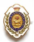 York & Lancaster Regiment white faced enamel sweetheart brooch