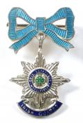 WW2 Irish Guards Silver & Enamel Bow Suspension Sweetheart Brooch.