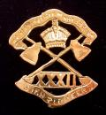 WW1 32nd Sikh Pioneers, Silver & Gold Indian Army Regimental Sweetheart Brooch.