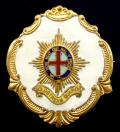 WW1 Coldstream Guards Large White Faced Enamel Sweetheart Brooch.