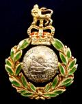 EIIR Royal Marines 1964 Hallmarked Gold & Enamel Regimental Sweetheart Brooch.