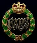EIIR 2nd Dragoon Guards (Queen's Bays), 1962 Hallmarked Gold & Enamel Regimental Cavalry Sweetheart Brooch.