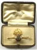 WW1 Royal Fusiliers 15ct Gold & Enamel Regimental Sweetheart Brooch, Housed in Original Presentation Case by Charles Packer & Co, London.