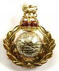 Royal Marines Gold & Enamel Regimental Sweetheart Brooch.