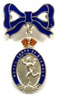 WW2 Royal Corps of Signals Silver & Enamel Sweetheart Bow Brooch.
