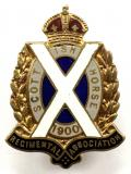 Scottish Horse Regimental Association Officially Numbered Lapel Badge.