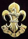 EIIR King's Regiment 1981 Hallmarked Silver Gilt Sweetheart Brooch.