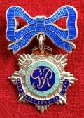 WW2 Royal Army Service Corps Enamel Bow Sweetheart Brooch.