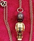 WW1 Thumbs Fumsup Touch Wud, 15 carat Gold Lucky Charm and Chain Necklace.