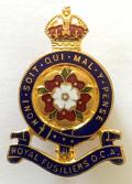 1st, 2nd, 3rd and 4th City of London Battalions Royal Fusiliers Old Comrades Association Numbered Lapel Badge by J.R.Gaunt.