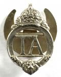 1938/1939 Territorial Army TA Silver Numbered Lapel Badge.