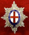 Coldstream Guards Paste Diamond & Enamel Regimental Sweetheart Brooch.