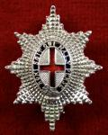 Coldstream Guards Silver & Enamel Regimental Sweetheart Brooch.