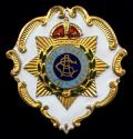 WW1 Royal Army Service Corps White Face Enamel Regimental Sweetheart Brooch.