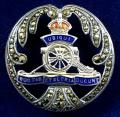 WW2 Royal Artillery Silver & Marcasite Regimental Sweetheart Brooch by Thomas Lynton Mott.