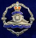EIIR Royal Artillery Silver & Marcasite Regimental Sweetheart Brooch.