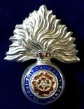 WW1 1st, 2nd, 3rd & 4th City of London Battalions, Royal Fusiliers Silver & Enamel Sweetheart Brooch by Thomas Lynton Mott.