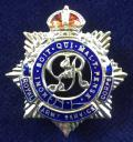 WW2 Royal Army Service Corps Silver & Enamel RASC Sweetheart Brooch.