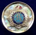 WW1 Army Service Corps, Mother of Pearl Silver Rim ASC Sweetheart Brooch.