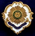 WW1 The Royal Scots White Faced Enamel Sweetheart Brooch.
