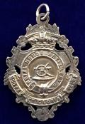 Royal Horse Artillery 1906 Hallmarked Ornate Silver Edwardian Watch Fob.