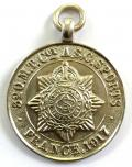 WW1 Army Service Corps France 1917, Winners Silver ASC Prize Medal / Watch Fob.