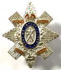 WW1 9th (Glasgow Highlanders) Battalion Highland Light Infantry, Silver & Enamel Scottish Regimental Sweetheart Brooch.