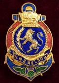 'Royal Navy H.M.S. Nelson' Lifebouy Anchor Sweetheart Brooch.