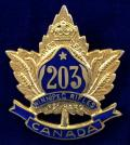 WW1 CEF 203rd Infantry Battalion (Royal Winnipeg Rifles) Canadian Expeditionary Force Sweetheart Brooch by Birks.