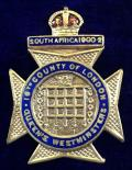 WW1 16th County of London Battalion Queen's Westminster Rifles Sweetheart Brooch.
