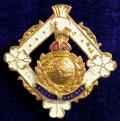WW2 Royal Marines Gilt and Enamel Sweetheart Brooch.