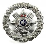 Highland Light Infantry enamel sweetheart brooch