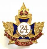 Canadian CEF 24th Infantry Battalion sweetheart brooch
