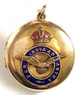 Royal Air Force rolled gold RAF photograph sweetheart locket