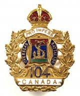 Canadian CEF 104th Infantry Battalion sweetheart brooch