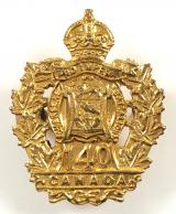 Canadian CEF 140th Infantry Battalion sweetheart brooch collar