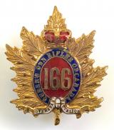 Canadian CEF 166th Infantry Battalion sweetheart brooch