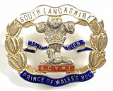 South Lancashire Regiment 1916 hallmarked silver sweetheart brooch