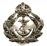 Royal Navy silver and marcasite sweetheart brooch