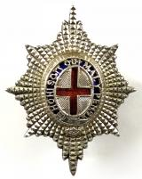 Coldstream Guards 1970 silver officer's forage cap badge