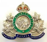 Canadian CEF First Mounted Rifles silver sweetheart brooch
