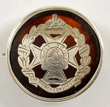 The Rifle Brigade 1915 silver on tortoiseshell sweetheart brooch