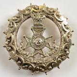 The Kings Royal Rifles 1892 hallmarked silver KRRC sweetheart brooch