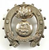 Royal Dublin Fusiliers silver horseshoe Irish sweetheart brooch