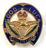 1918 Royal Air Force good luck horseshoe sweetheart brooch