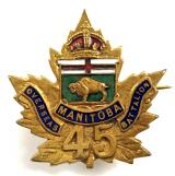 Canadian CEF 45th Infantry Batt Manitoba sweetheart brooch