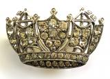 Royal Navy and Merchant Services diamante nautical crown brooch by Ciro