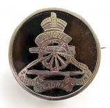 WW1 Royal Artillery silver and tortoiseshell RA sweetheart brooch