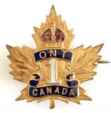 WW1 Canadian 1st Infantry Battalion Ontario CEF sweetheart brooch